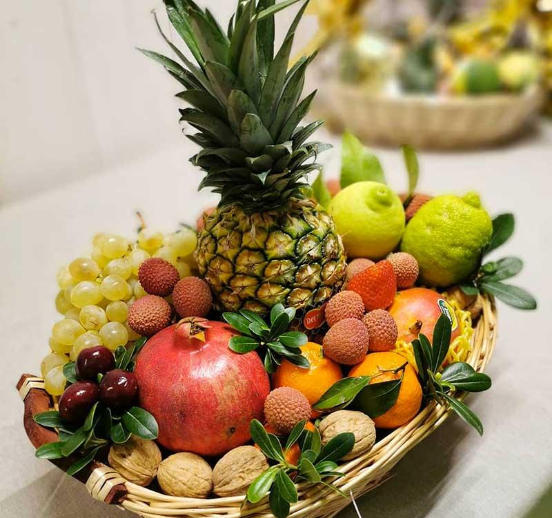 fruttera-cesta regalo frutta fresca e secca
