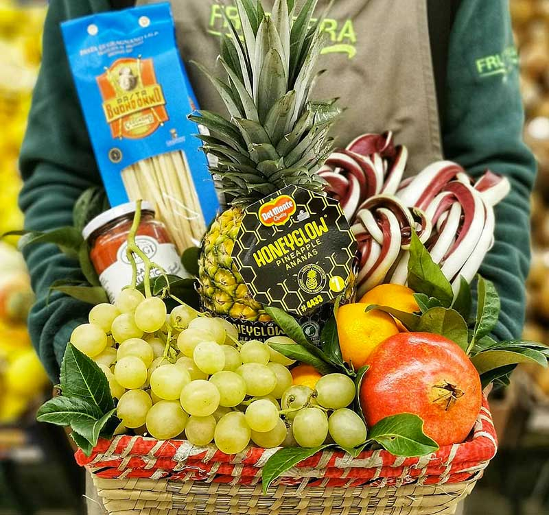 fruttera-cesta regalo frutta e verdura