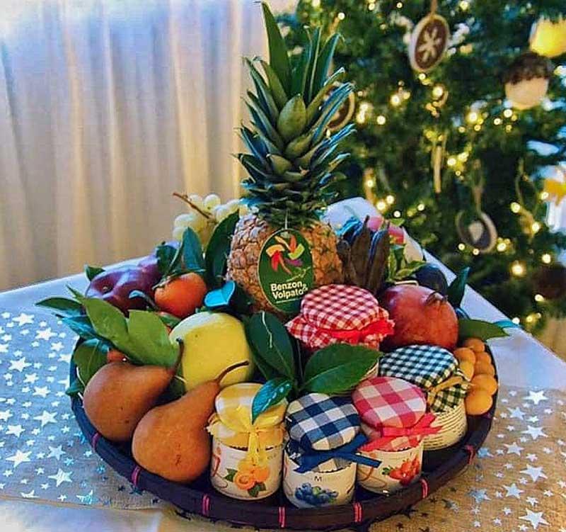 fruttera-cesta regalo frutta e conserve